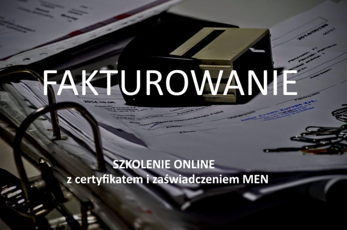 fakturowanie szkolenie online